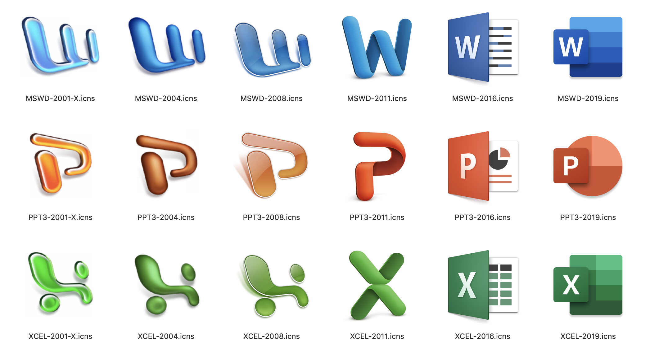 OS X Office icons